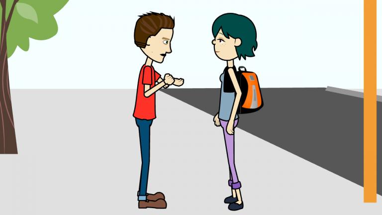 Sur le chemin de l'école - leçon vidéo de français parlé informel